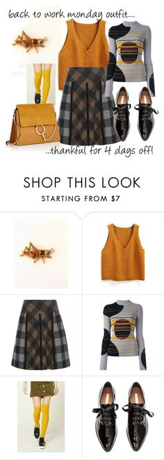 """back to work monday outfit"" by karen-lynn-rigmarole ❤ liked on Polyvore featuring WithChic, Etro, Maison Margiela, Forever 21, Chloé, thankful and rested"