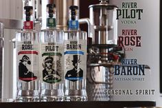 Mississippi River Distilling Company, too cute place in Le Claire, IA where everything that goes into the product is from within 125 miles of the distillery