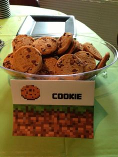 Minecraft Birthday Party Cookie Sign for snacks/treats