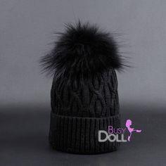 New! Large Genuine Raccoon Fur Pompom knitted Braided Beanie Black on Black Hat Big Raccoon POM by BusyDOLL on Etsy https://www.etsy.com/listing/251071750/new-large-genuine-raccoon-fur-pompom
