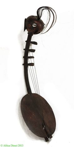 Harp with 4 Strings Musical Instrument Gourd African | eBay