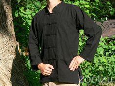 XXL Black Chinese Frog Buttons Shirt Jacket Renaissance Pirate Kung Fu Asian | eBay