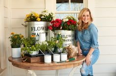 Fun seeds, pots, and even silver plant stakes by Kellie Pickler!