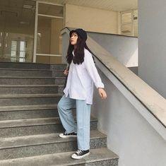 Cheap Streetwear, Korean Streetwear, Korean Winter Outfits, Korean Outfits, Modest Fashion, Girl Fashion, Fashion Outfits, 80s Fashion, Korean Fashion Trends