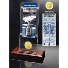 Toronto Maple Leafs Highland Mint 13-Time Stanley Cup Champions Ticket Acrylic - $39.99