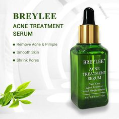 Acne Treatment Serum, BREYLEE Tea Tree Clear Skin Serum for Clearing Severe Acne, Breakout, Remover Pimple and Repair Skin Acne Serum, Skin Serum, Facial Serum, Tea Tree For Acne, Natural Acne Treatment, Acne Spots, Shrink Pores, Remove Acne, Skin Elasticity