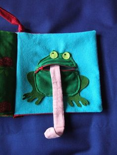 Frog quiet book page by carmella