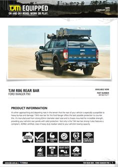 #productinfo  Check tjmproducts.com for more info! #getequipped Ford Ranger, Offroad, Vehicles, Check, Off Road, Vehicle