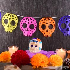 Halloween Arts And Crafts, Diy Halloween Decorations, Halloween Kids, Fall Crafts, Holiday Crafts, Happy Halloween, Day Of The Dead Diy, Day Of The Dead Party, Thinking Day