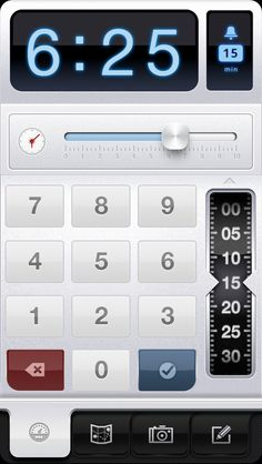 Parkbud's new Meter Time Entry Screen with interactive Clock  iPhone, iPhone 5, design, UI, app, mobile, apple, UX, ios, inspiration, http://www.parkbud.com