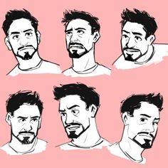 """dchanberry: """" Rewatched some Iron Man today and did a couple quick Tony sketches! """""""