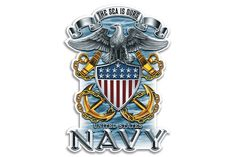 Navy The Sea Is Ours Full Print Eagle Reflective Decal Available in 2 Inch Decal 4 Inch Decal 6 Inch Decal 12 Inch Decal Us Navy, Navy Mom, Military Humor, Navy Military, Military Apparel, Military Shop, Military Signs, Military Personnel, Military Life
