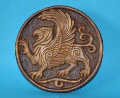 Griffin wood carving handmade