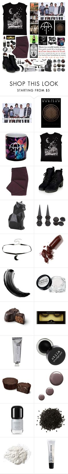"""Bring Me The Horizon"" by xnightelsax ❤ liked on Polyvore featuring Hot Topic, LAQA & Co., Maybelline, MAKE UP FOR EVER, Bloomingville, Topshop, NYX, Ilia and Bobbi Brown Cosmetics"