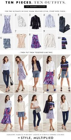 Banana Republic – 10 Pieces, 10 Outfits