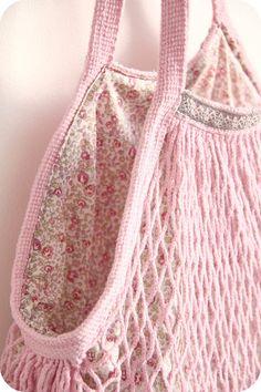 *filet crochet  idée pour sac car lien invalide