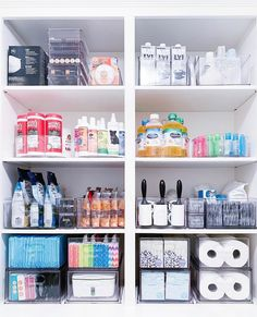 The other side of Katy Perry's household closet ✨ # cleaning closet organization Fashion Look Featuring by thehomeedit - ShopStyle Bathroom Closet Organization, Kitchen Organization Pantry, Home Organization Hacks, Bathroom Storage, Medicine Organization, Organize Bathroom Closet, Organizing Cleaning Supplies, Closet Organisation, Makeup Drawer Organization