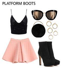 """Platform Boots"" by ayla-raine on Polyvore featuring Prada, Eddie Borgo and Marina Hoermanseder"