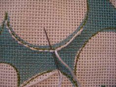 Stitch a needlepoint curve