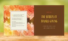 The Thankful Heart - Thanksgiving Design Magazine Design Inspiration, Magazine Layout Design, Brochure Examples, Brochure Design, Page Layout, Layouts, Thankful Heart, Magazine Spreads, Thanksgiving