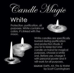 Candles:  #Candle Magic ~ White.