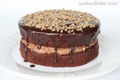 Chocolate Mousse Crunch - the cake is from a box mix. Use mini chocolate chips or crushed peanut butter cups instead of the heath crunch.