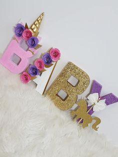 Unicorn Theme Decorative Letters