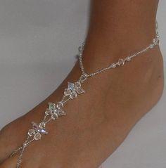 Amazon.com: Wedding Foot Jewelry Barefoot Sandals Crystal Flower: Jewelry