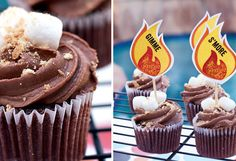 Smore cupcakes for BBQ  (this site has lots of cute BBQ ideas)