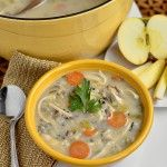 Chicken & Wild Rice Soup.  Made it tonight and subbed buckwheat flour.  At least doubled the veggies and added mushrooms.  Could have done even more veggies.  Could have added more wild rice, or decreased broth volume.  Yummy!  Will make again.