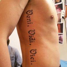 Veni Vidi Vici Tattoo Shoulder