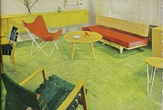 Mid Century Modern.....there's my sling chair....love it!