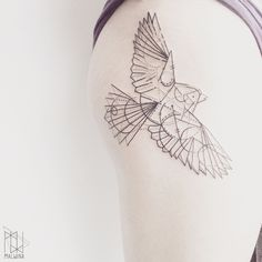 This piece of art has been created by Malvina, who works as a tattoo artist at Scratchline Tattoo, Kentish Town. She specialises in geometric and graphic tattoo styles Her Specialities include Tattoo Art, Geometric, Graphic, Black, Grey, Red, Birds, Skulls
