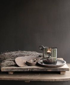 Oude houten rijstschep Wabi Sabi, Christmas Living Rooms, Home Living Room, Slow Living, Room Lights, Room Themes, Rustic Christmas, Bohemian Decor, Modern Classic