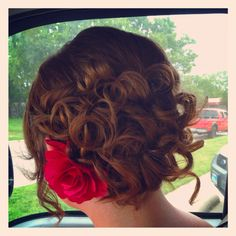 curly hair in a bun    for more looks check out: www.terrylynndesigns.com