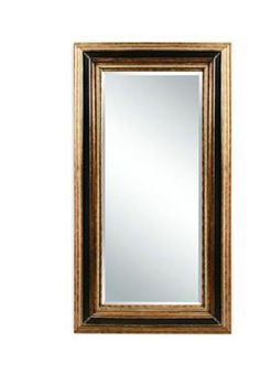 Vallejo Antique Gold Ebony Old World Wood Leaner Mirror