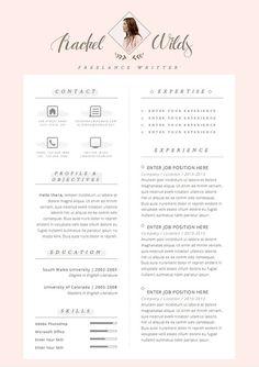 Resume CV Design Cover Letter Template for Word par OddBitsStudio