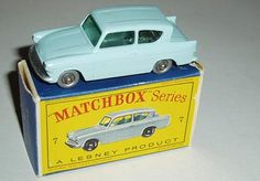 7-B 	Ford Anglia Ford Anglia, Matchbox Cars, My Youth, Train Set, Cool Things To Buy, Toys, Awesome Stuff, Memories, Life