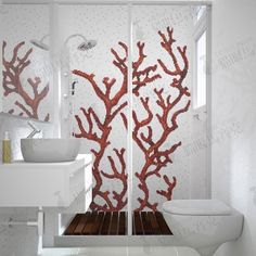 Online Shop T red coral henselae mosaic puzzle background wall bathroom tile wall stickers Decor, Shower Surround, Interior, Vintage Bathrooms, Wall Tiles, Bathroom Wall Tile, Wall Stickers, Mosaic, Interior Design