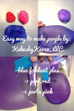 What Colors Make Purple how to make bright navy blue fondant color | cake decorating