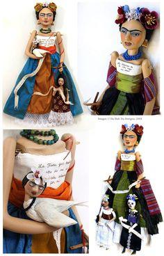 Frida Art Dolls, 2009~Image © Christine Alvarado, Du Buh Du Designs. #frida