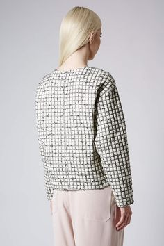 Wadded Check Sweat by Boutique