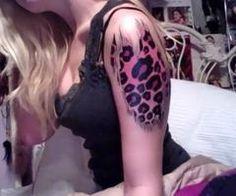 cheetah tattoo, yeah i really do love cheetah print
