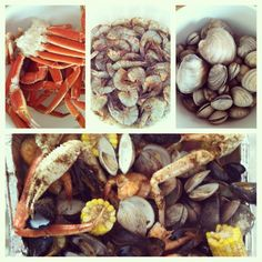 My 4th of July clam bake (clams, mussels, crab legs, shrimp, red potatoes, sweet corn cooked over the grill w/water and beer) yummy!!