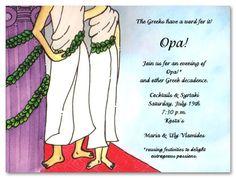 Greek Theme Party   Kids Birthday Invitations Girls Boys Boys & Girls Sweet 16 Invitations ...