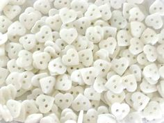 20 White Heart Buttons - Valentine Buttons - Sewing Buttons - Scrapbooking - Cardmaking - White Hearts - #PRB0018 Heart Button, Sewing A Button, Different Colors, Cardmaking, Hearts, Scrapbooking, Valentines, Buttons, Display