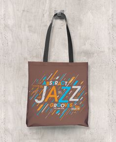 Abstract Jazz Grooves Vol. 1 - All-Over Printed Poly Tote Bag (Brown) – The Color Pop Shop #jazz #music #livemusic #totebag #abstractjazz