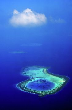 White Cloud Over Coral Reef. Aerial Journey Around Maldives Photograph by Jenny Rainbow Aerial Photography, Fine Art Photography, Cartography, Wood Print, Maldives, My Images, Around The Worlds, Coral, Journey