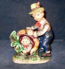 Vintage Lefton Nursery Rhyme Figurine Peter Peter Pumpkin Eater #1247 c 1950's