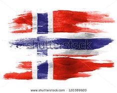 Watercolor norwegian flag